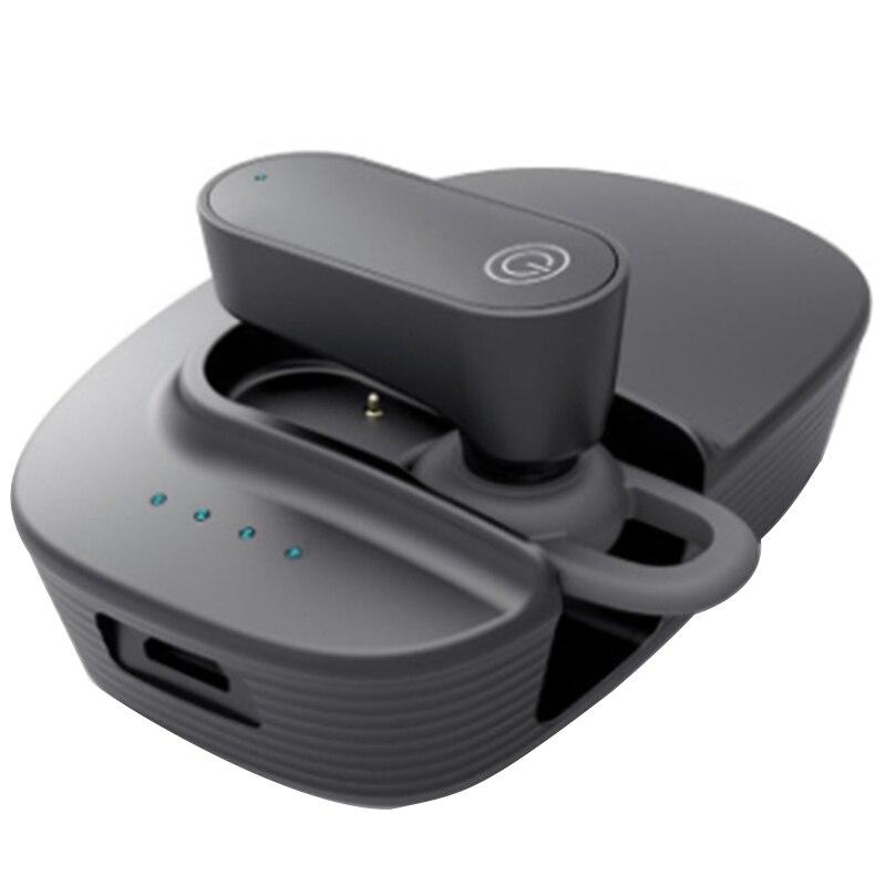 Auriculares Bluetooth para vehículo completamente solares con batería de almacén, auriculares Bluetooth de una sola oreja 5,0 auriculares Bluetooth de una sola oreja