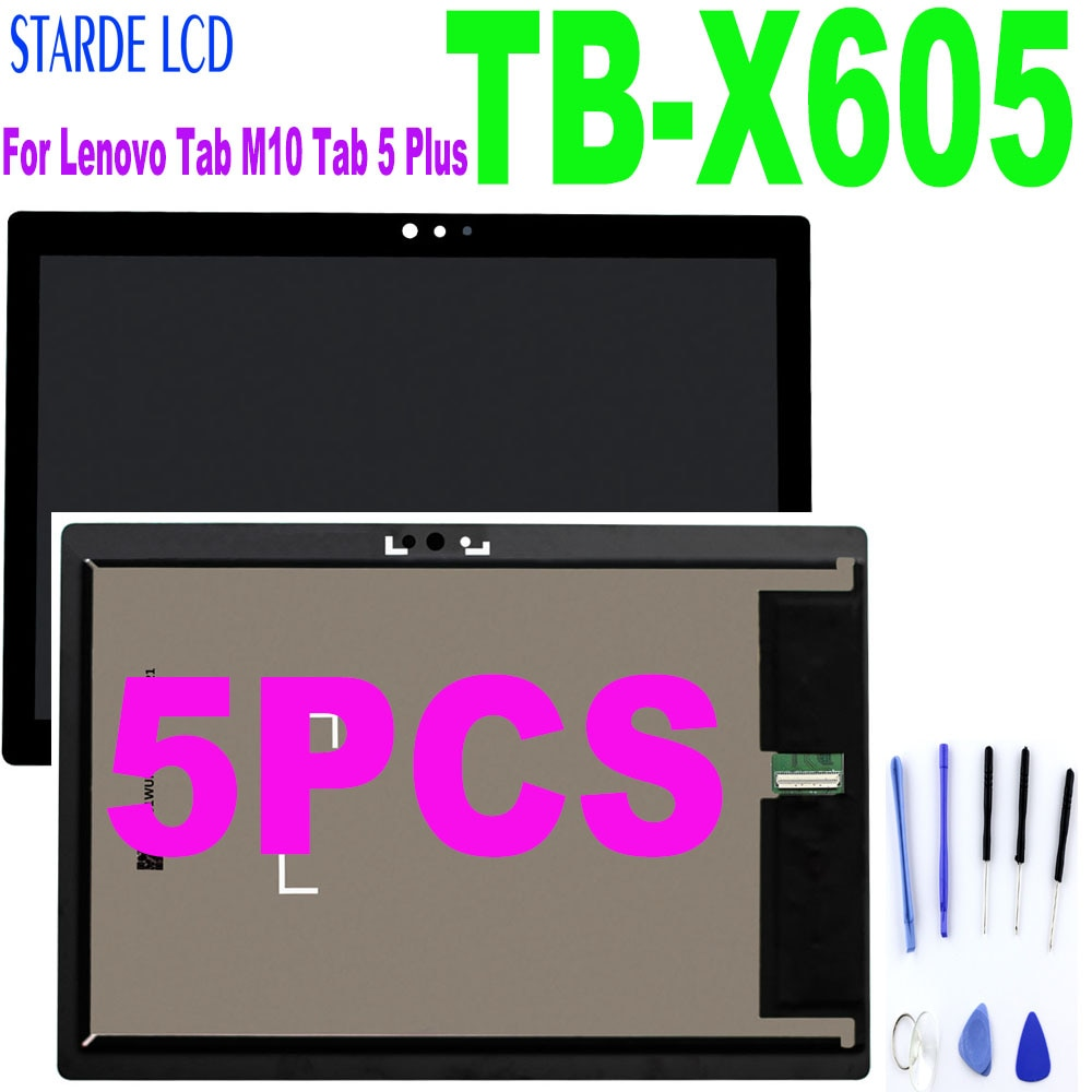 5PCS 10.1'' For Lenovo Tab M10 Tab 5 Plus TB-X605L TB-X605F TB-X605M TB-X605 LCD Display Touch Screen Digitizer Replacement