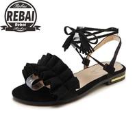 2021 black red women sexy fashion sandals cuff fringe tassel peep toe high heel summer shoes platform stilettos jelly sandals 43