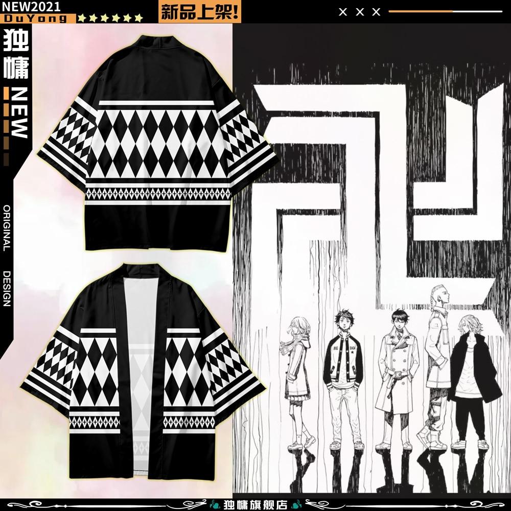 tokio-revengers-camiseta-hanagaki-whillyan-ken-mangyoji-camiseta-anime-poliester-camisetas-de-verano-negro-y-diseno-blanco-haori