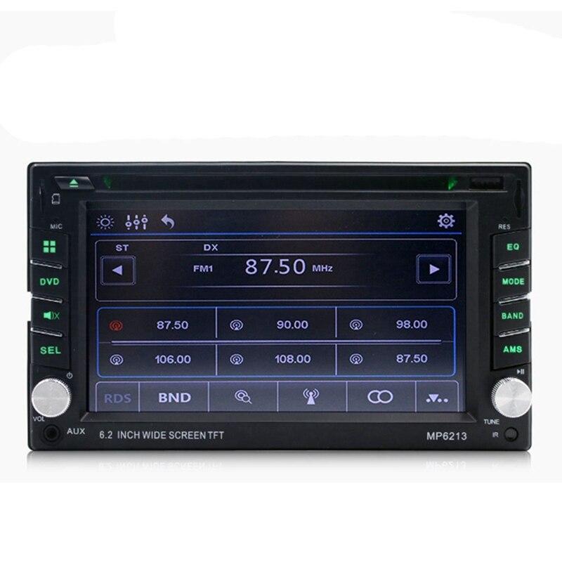 Coche 6,2 pulgadas Multimedia Dvd Cd tarjeta máquina reproductor Mp3 Radio Fm Mp6213