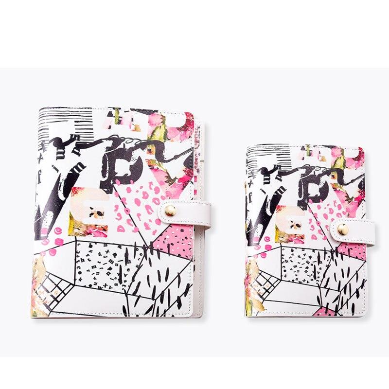 2020 yiwi rosa flor a5 a6 criativo diy solto folha binder planejador kawaii papelaria dia plano diário bloco de notas
