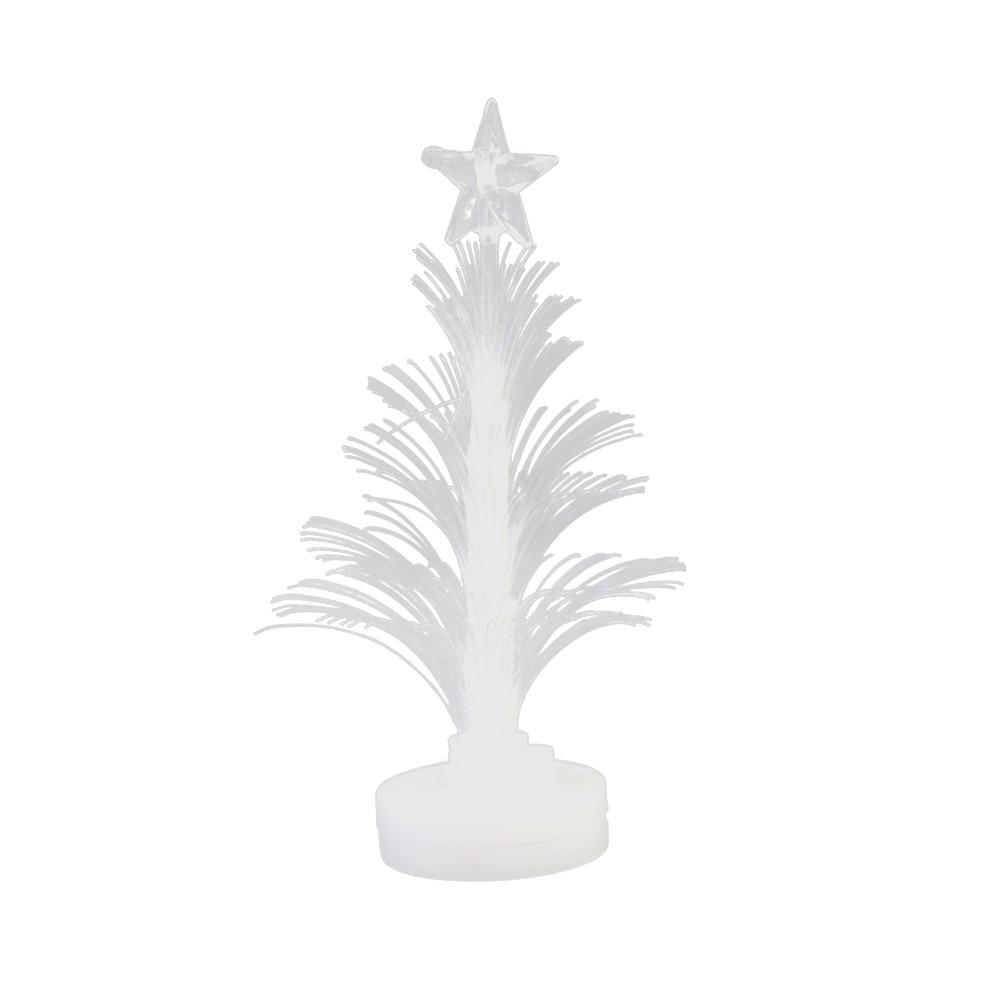 Branco mini árvore kerstboom vilt sapin de noel feliz led mudança de cor mini natal árvore casa mesa festa decoração charme #20