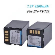 Batteries BNVF733 4200mAh BN-VF733, 2 pièces, pour JVC GR-D240 GR-D290AH GR-DF570 GR-D246 GR-D290US GR-DF590 GR-D247, batterie BN VF733
