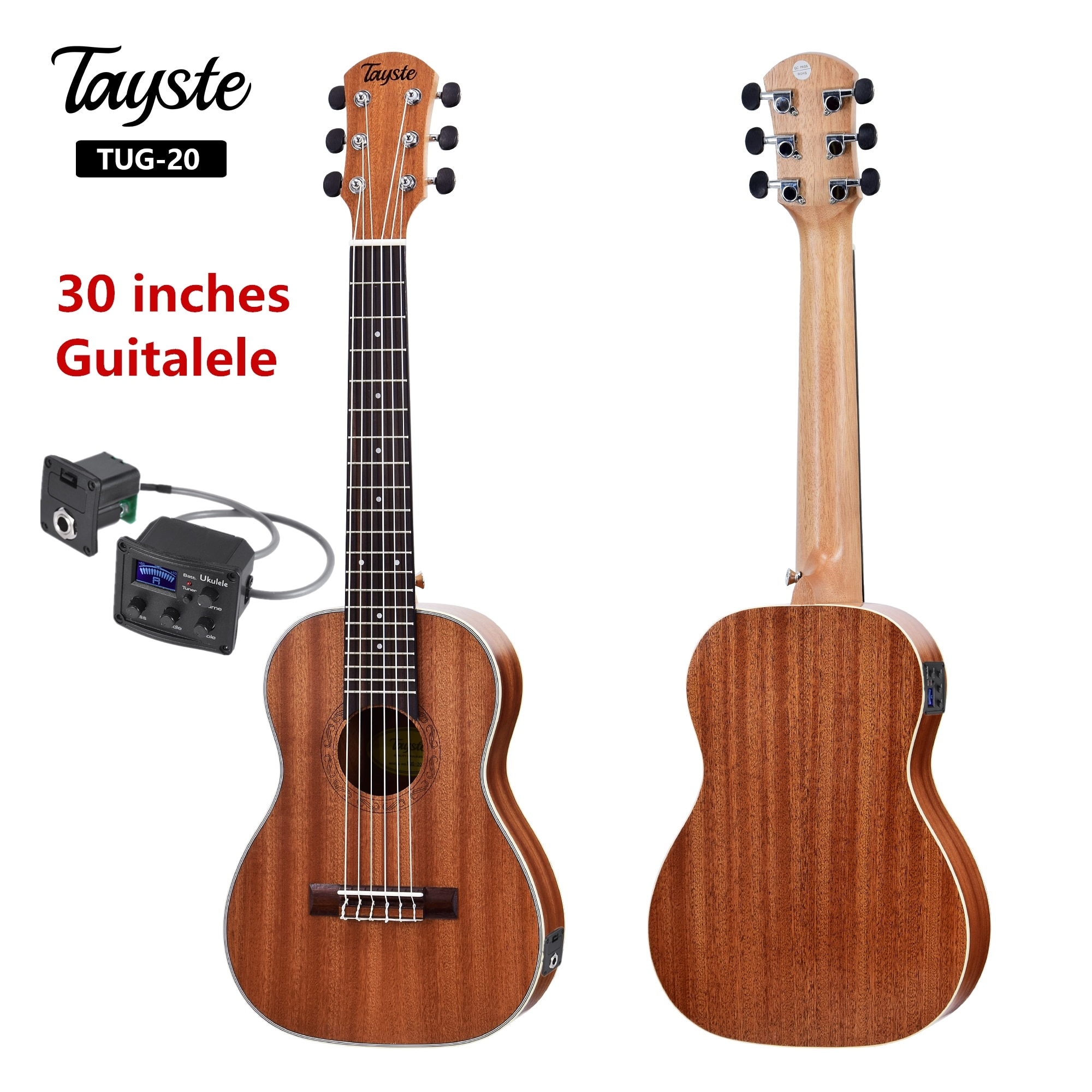 Guitalele Guilele 30 بوصة سبيلي البسيطة الكهربائية Guitarlele الباريتون الصوتية القيثارات 6 سلاسل القيثارة التقاط السفر الغيتار