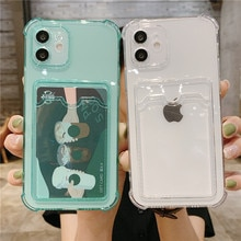 Shockproof Silicone Phone Case iPhone 11 12 Pro Xs Max Lens Protective Case iPhone SE X Xr 7 8 Plus