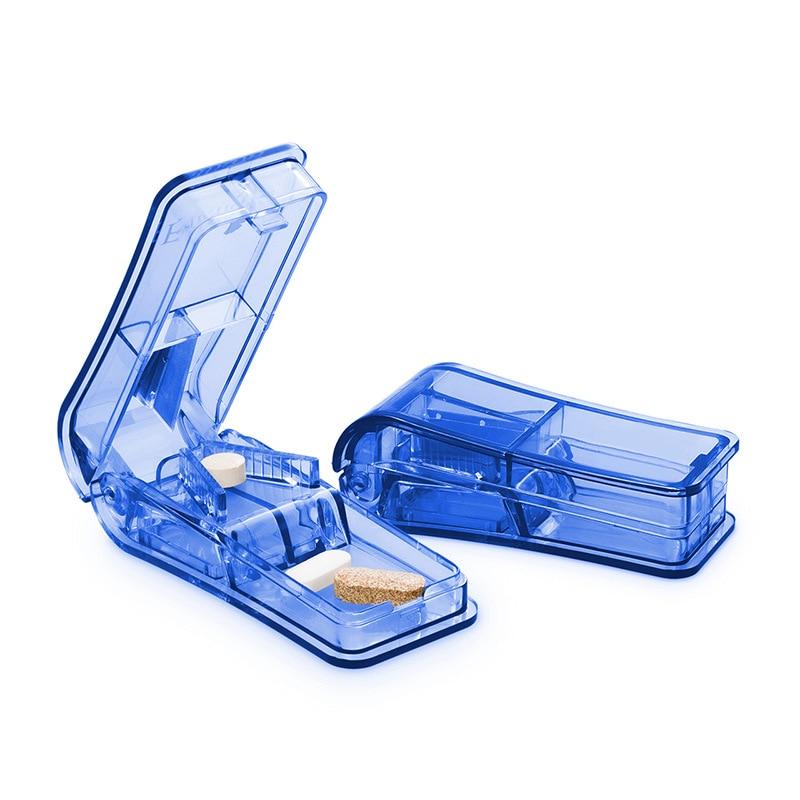 Ophax New Pill Cutter Medicine Box Pill Cutting Splitter Drugs Tablet Cutter Divider Storage Case Box Pill Cases & Splitter