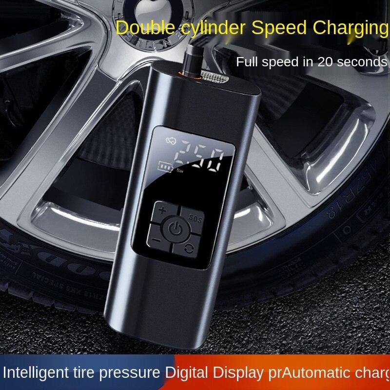 Автомобильный портативный автомобильный воздушный насос, электрический беспроводной автомобильный воздушный насос с цифровым дисплеем, м...