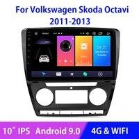 android 9 0 car radio multimedia video audio player navigation gps for skoda octavia 2011 2012 2013 split screen ips touchscreen