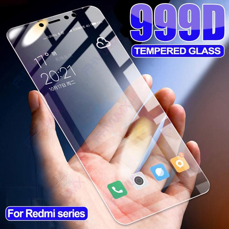 999D Full Protective Glass For Xiaomi Redmi 5 Plus 4A 6 6A 7A S2 Go Screen Protector Redmi Note 4X 5