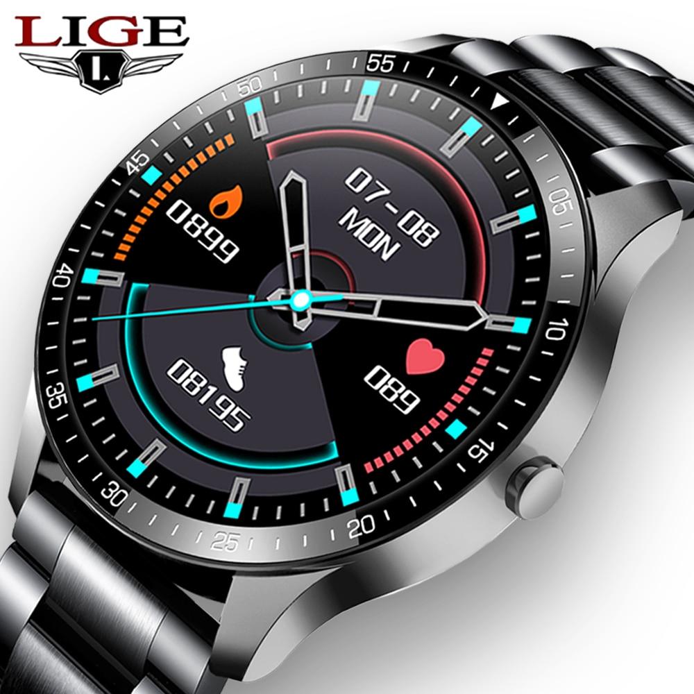 LIGE جديد ساعة ذكية الرجال مقاوم للماء 1.3