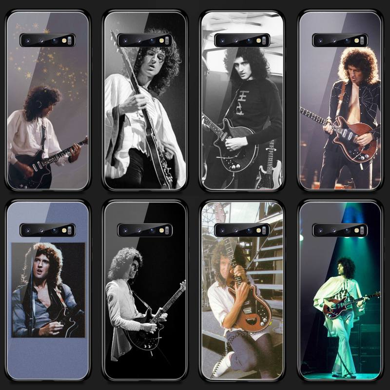 Black Queen Brian May Phone Case Tempered Glass For Samsung S20 Plus S7 S8 S9 S10E Plus Note 8 9 10 Plus A7 2018
