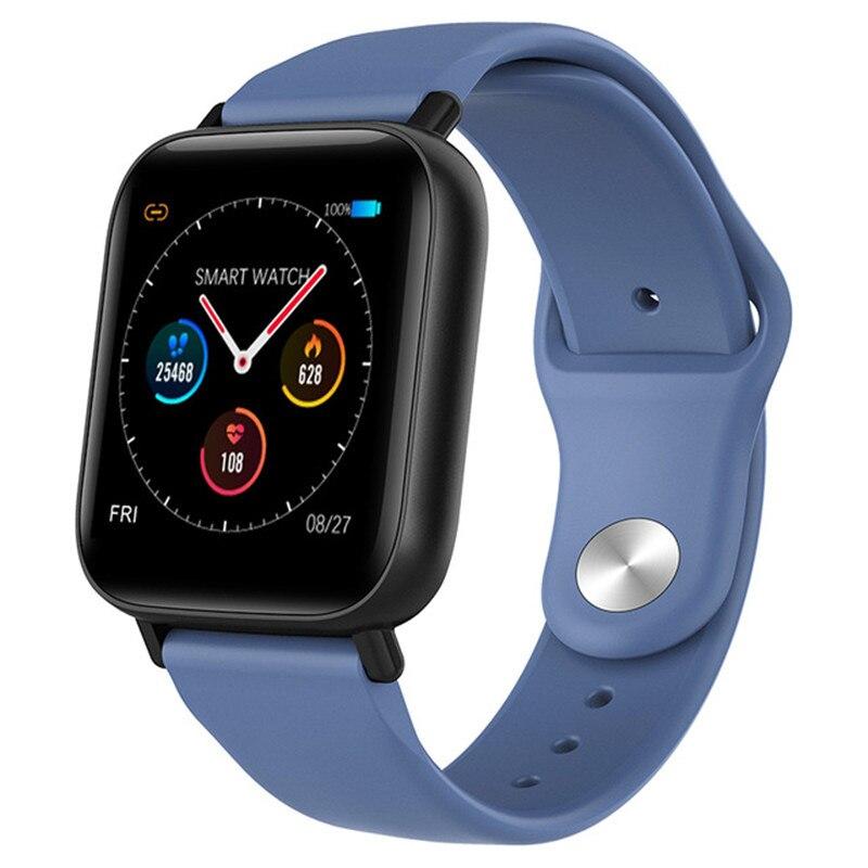 Q10 Smart Watch Ip67 Waterproof Slim Metal Body Milanese Strap Replaceable Heart Rate Monitor Blood Pressure Smartwatch Men