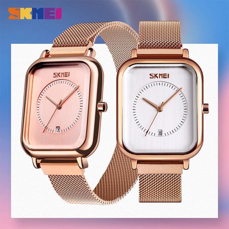 SKMEI Japan movement Quartz Women's watches Casual Ladies Watch Top Brand Waterproof Female Wristwatch Clock Montre Femme 9207 enlarge