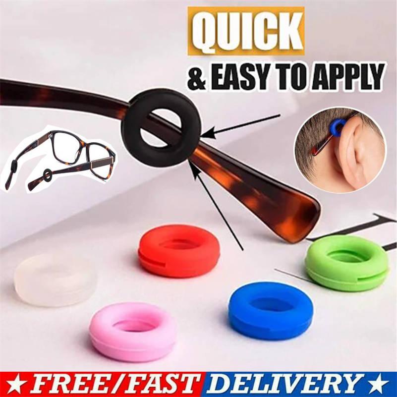 5/10 Pairs Anti-Slip Round Comfort Glasses Retainers Temple Eyeglasses Sleeve