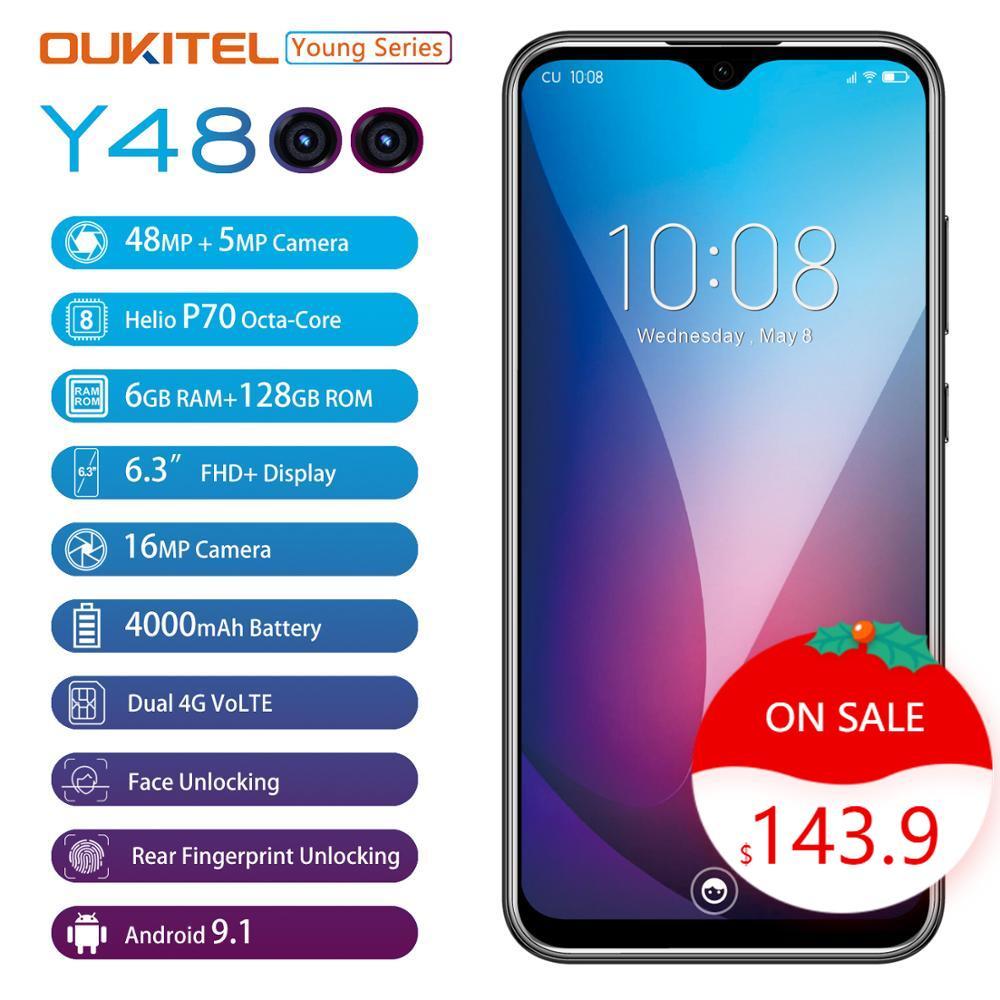OUKITEL Y4800 смартфон с 5,5-дюймовым дисплеем, восьмиядерным процессором, озу 6 гб, пзу 6,3 гб, 19,5 мач, Android 9,0