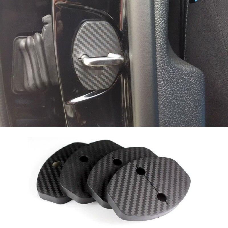 4Pcs/Lot Door Lock Protect Cover Cap Car Stickers Suitable for Seat Ateca KH7 FR S SE XCELLENCE 2016 2017 2018 Car Accessories