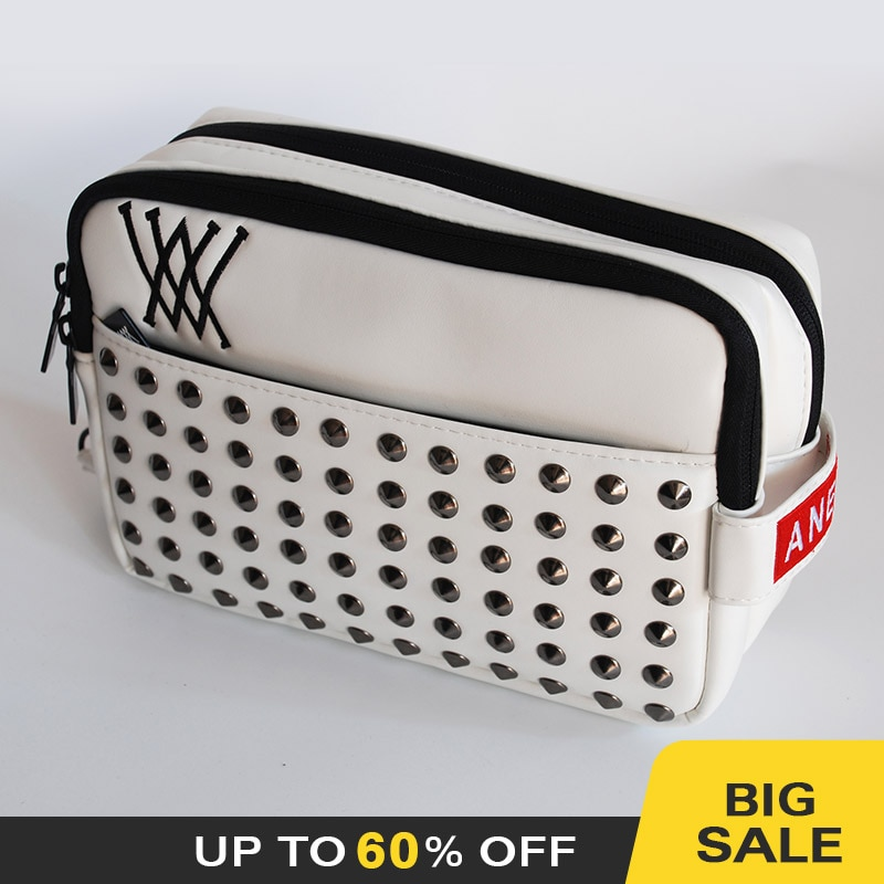 Golf bag Sports supplies Storage pouch Handbag Clutch Bag Zip Fashion Rivet South Korea Trendy Bag H