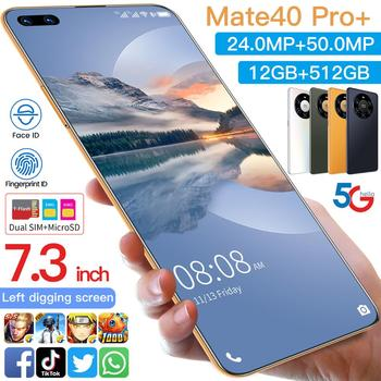 Global Version HUAWE Mate 40 Pro+ Smartphone 7.3Inch Full Screen Deca Core 6000mAh 12GB 512GB 4G LTE 5G Network Mobile Phone
