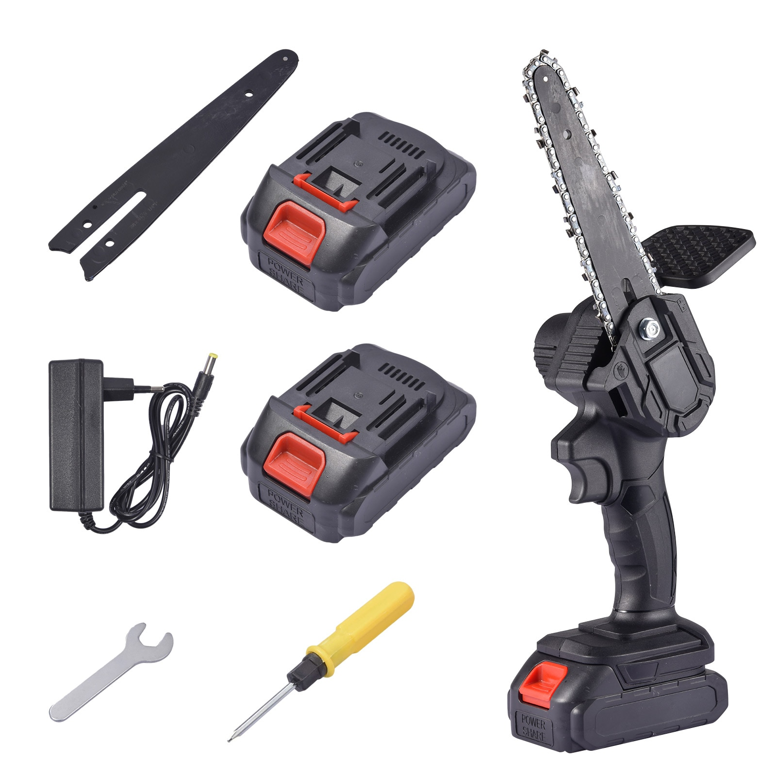 6-Inch Electric Mini Chain Saws Pruning ChainSaw Cordless Garden Tree Logging Trimming Saw For Wood
