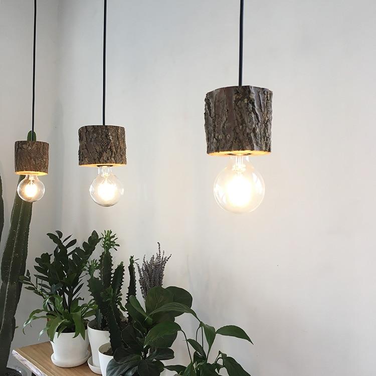 Винтажный Ретро подвесной светильник, креативный твердый подвесной светильник из переработанного дерева, подвесной светильник для рестор... eichholtz подвесной светильник emperor
