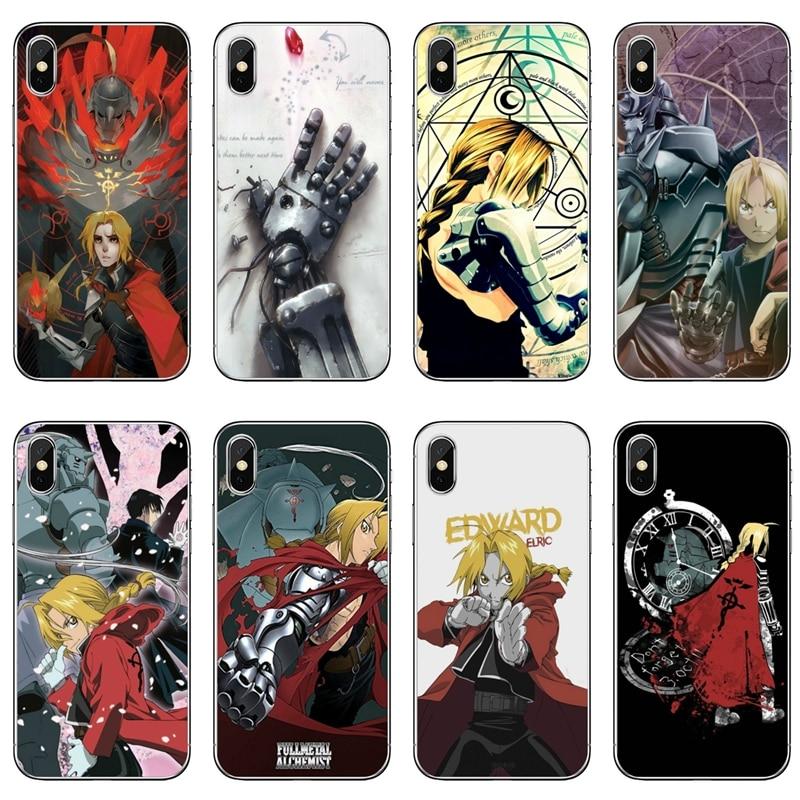 Anime FullMetal Alquimista para Samsung Galaxy A10 A30 A40 A50 A60 A70 A6s A8 A9s J4 J6 primer Plus 2018 caso de la cubierta
