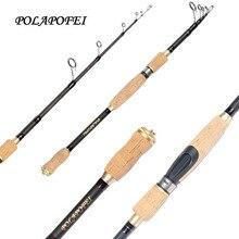 POLAPOFEI 46T Fiber de carbone canne à pêche télescopique rotation brochet coulée tige Pod distributeur de nourriture poissons pôle adapté pour Shimano Daiwa bobine E39