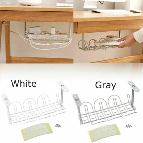 Organizador para la sala de estar, organizador para la gestión de cables en el escritorio, organizador de cables, Cable cargador, enchufes, bandeja, organizador de cables