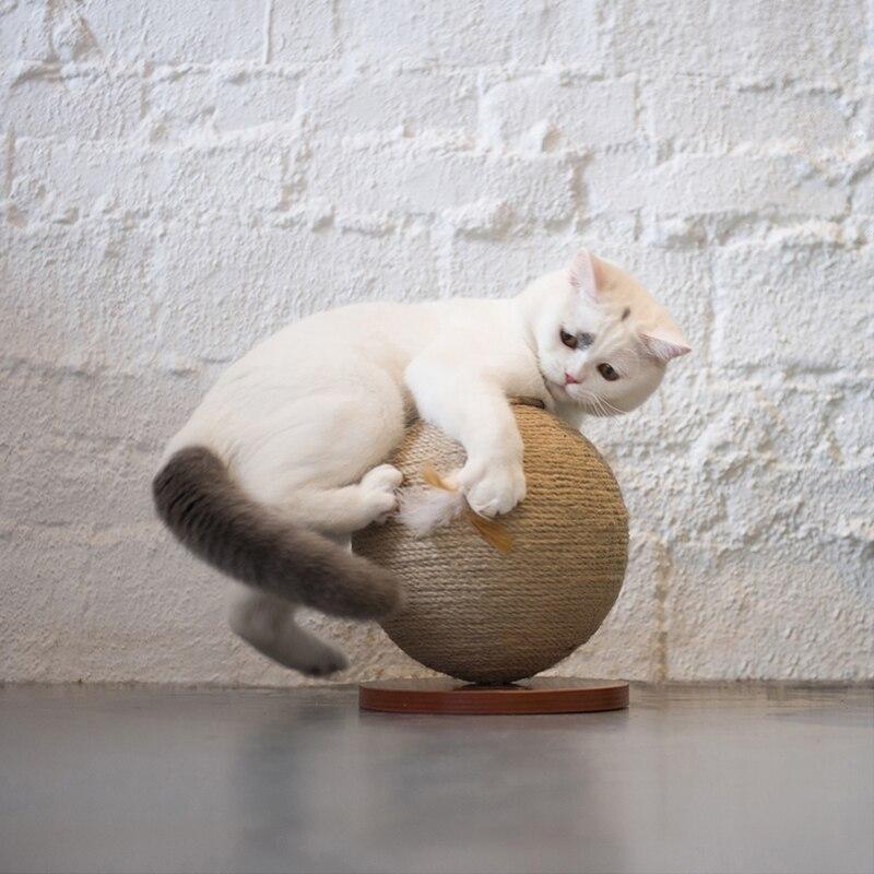 Bola giratoria para rascar gato, rascar, pulir, Bola de garra, gato, árbol, torre, rascador de Sisal, gato, muebles para mascotas, gatito, pelota de juguete