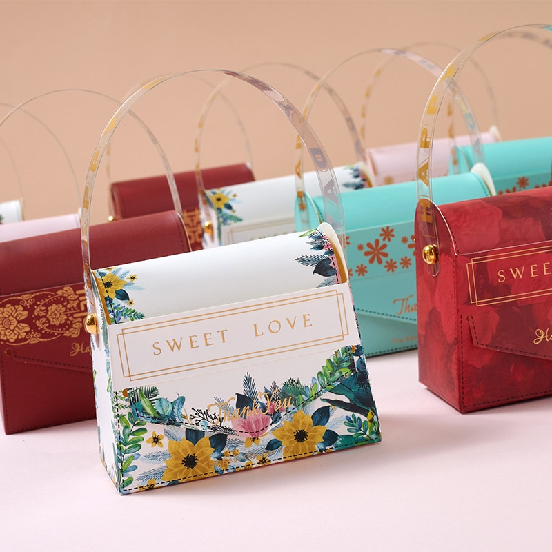 Новинка, креативная Подарочная мини-сумка, Подарочная коробка для вечерние ринки, бумажные коробки для детского душа с шоколадом, упаковка, ...
