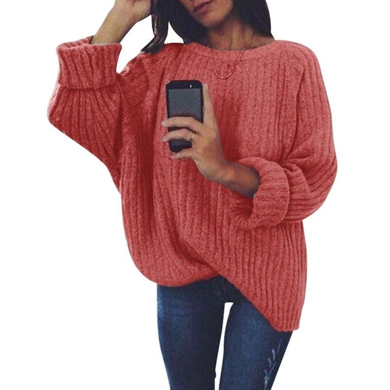 Calofe 2019 outono feminino camisola de inverno doce cor coreano pulôver manga longa casual camisola feminina solta sólida malha jumper
