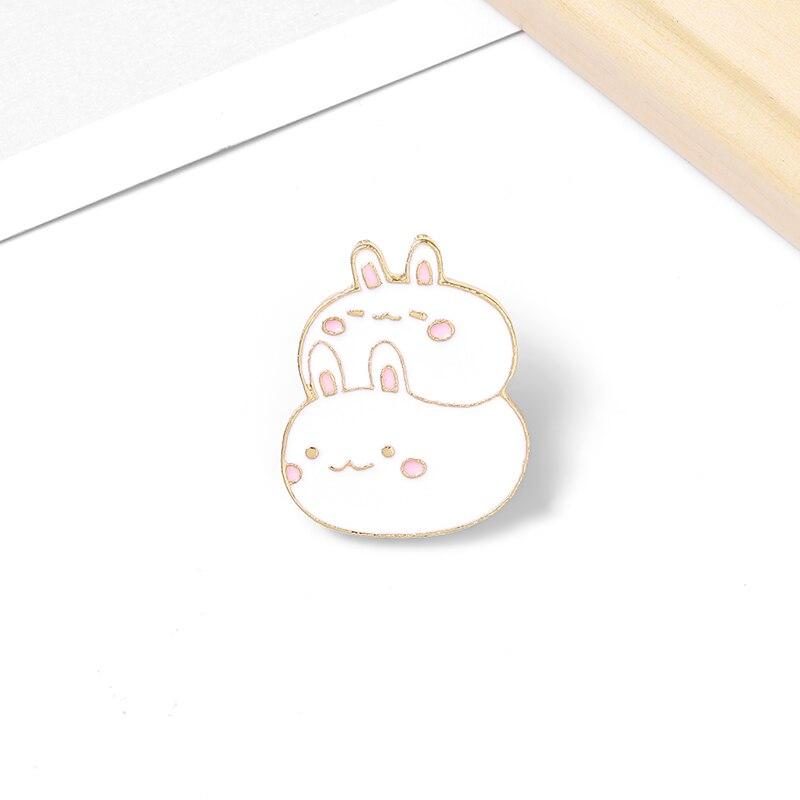 Signos Del Zodiaco, solapa de esmalte Animal, accesorios para bolsa de estudiante, pin, insignia, serie de animales bonitos, conejo divertido, regalos de joyería para mujeres