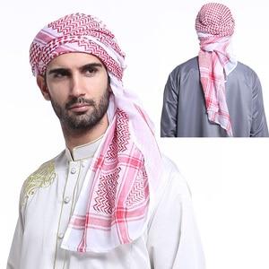 men Headscarf Muslim Saudi Arabia Turban red black Islamic Hijabs fashion high quality Hijabs India male Polyester headscarves