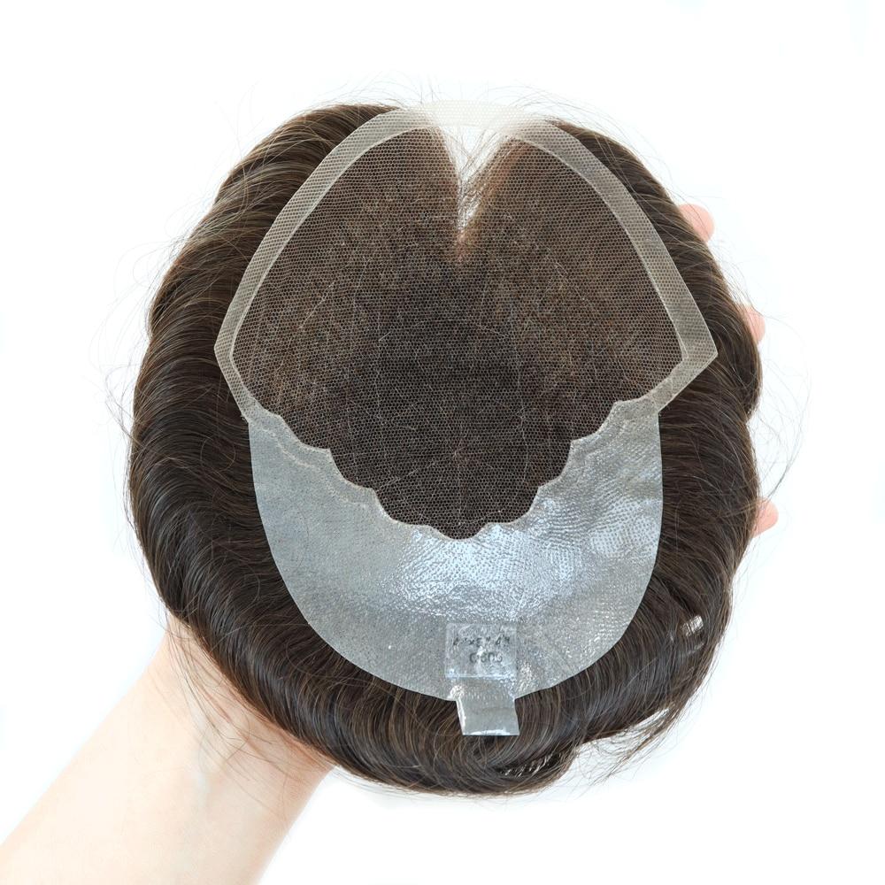 Распродажа! Q6 парик для мужчин, маленький размер, парик для мужчин, парик из кружева и полиуретана, для мужчин