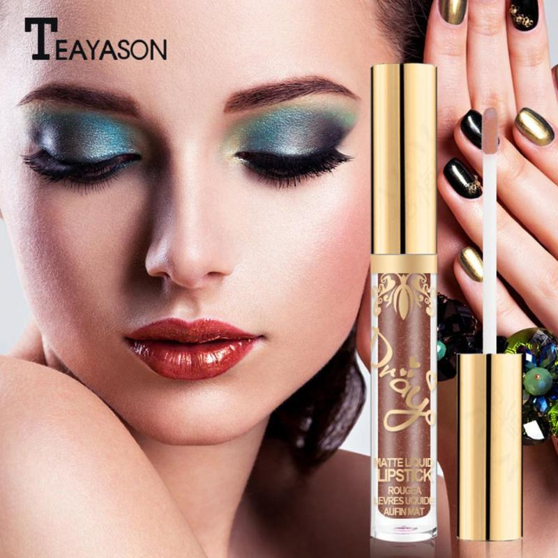1Pc Beauty Glazed Matte Liquid Lipstick Long Lasting Waterproof Glitter No Fading Lip Tint Clear Lip Stain Blue Yellow Lip Gloss