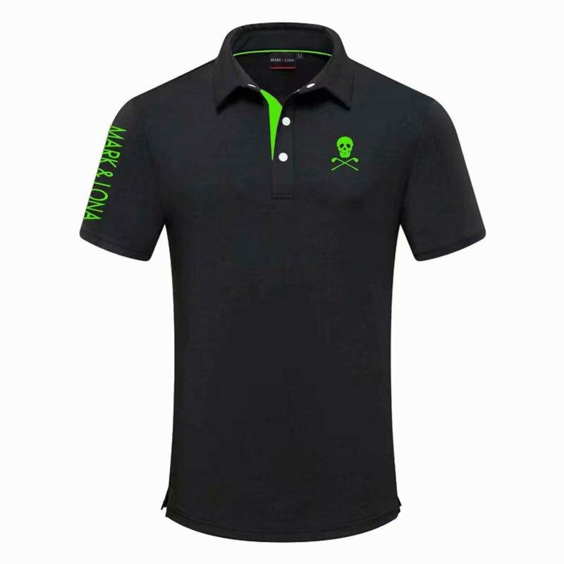 جديد الصيف قصيرة الأكمام قميص الرجال الرياضة جولف تي شيرت 4 ألوان مارك و LONA جولف الملابس S-XXL في الاختيار الترفيه قميص جولف
