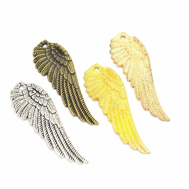 30 Uds. Dijes de alas, joyería DIY para hacer colgantes, pulseras, collares, pendientes, Artesanías hechas a mano