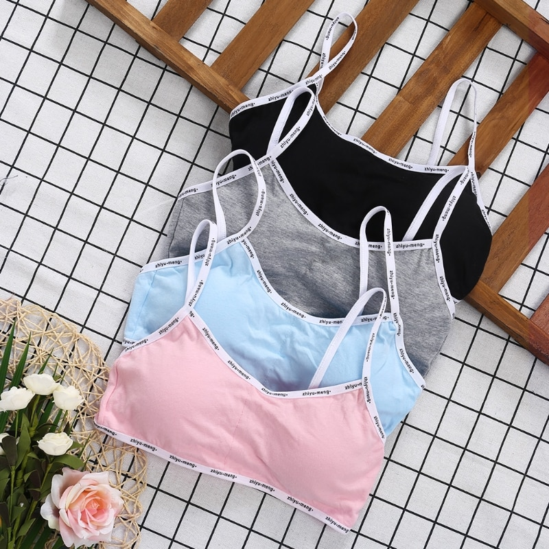 Girls Training Bra Teenage Kids Soft Breathable Cotton Underwear Tops Clothing