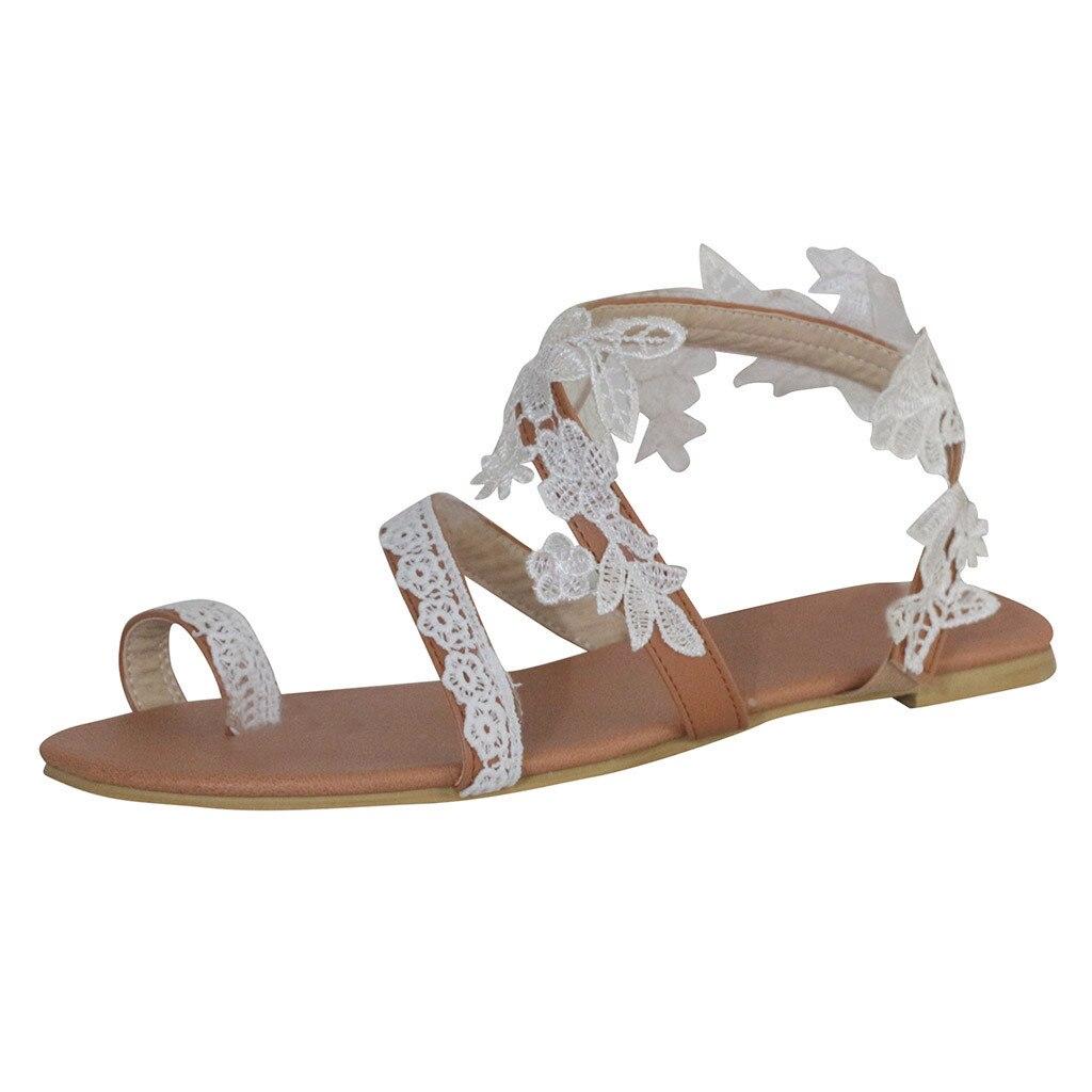 Zapatos de mujer 2019 zapatos casuales de moda para mujer, sandalias de cristal, Sandalias planas de verano bohemias para mujer, zapatos de verano, chanclas