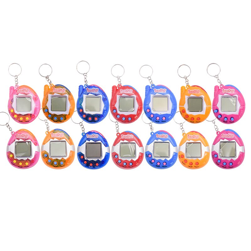 7 Colors Tamagochi Virtual Pet Electronic Pets Toys 49 Animals In One Nostalgic Kids Adult Retro Game Toys With Key Chain