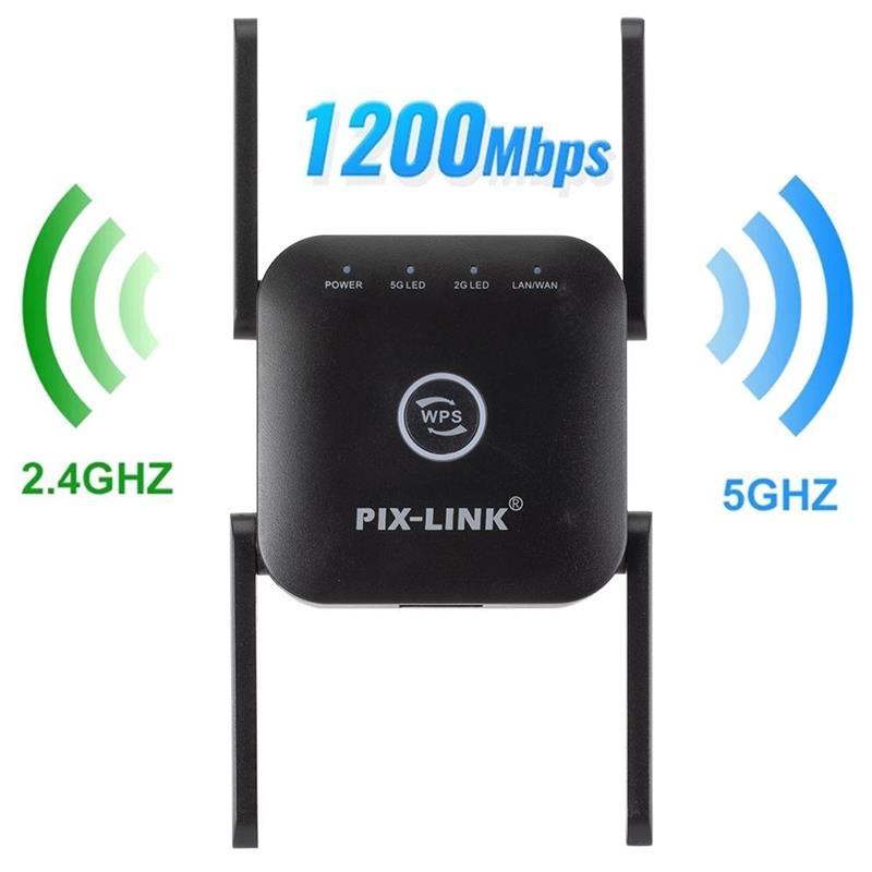 Extensor de señal Wifi de doble banda, amplificador de 2,4G, 5GHz, AC1200,...