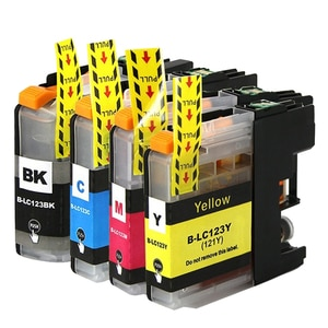 LC121 LC123 XL Ink Cartridge for Brother DCP-J132W DCP-J152W DCP-J552DW DCP-J752DW DCP-J4110DW MFC-J470DW MFC-J650DW Printer
