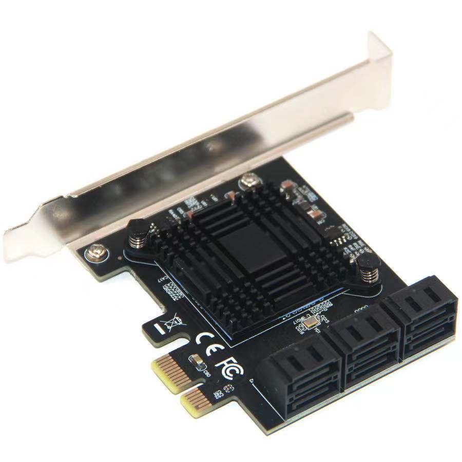 بطاقات PCI-E 6/4 منافذ بطاقة SATA بطاقات PCI-E 4X PCI Express to SATA 3.0 SATA III 6Gbps PCIE X4 لوحات مهايئ التوسع