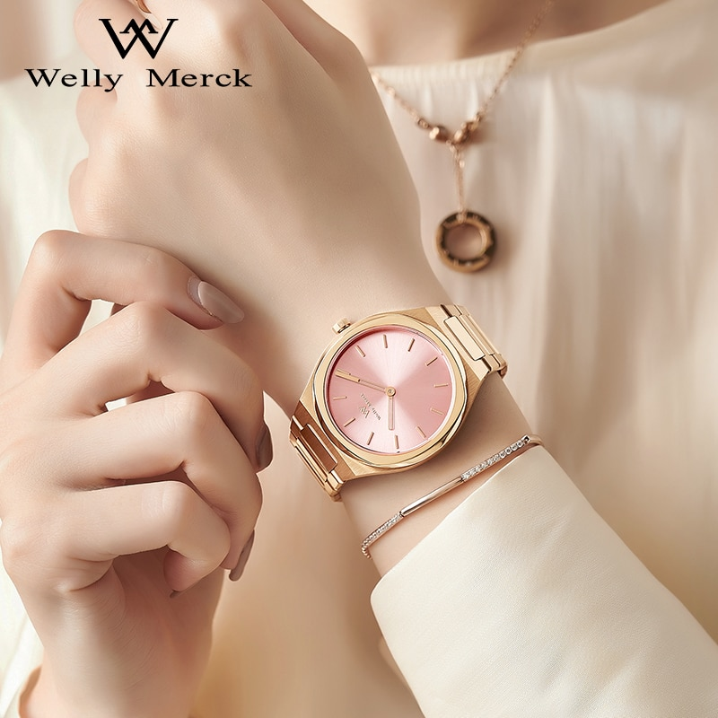 Welly Merck Luxury Brand Women Watches Swiss Quartz Movement Waterproof Stainless Steel Case Ladies Watch relogio feminino 2021 enlarge