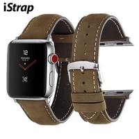 istrap for apple watch band leather strap iwatch accessories series 1234 watch band 38mm 40mm 42mm 44mm