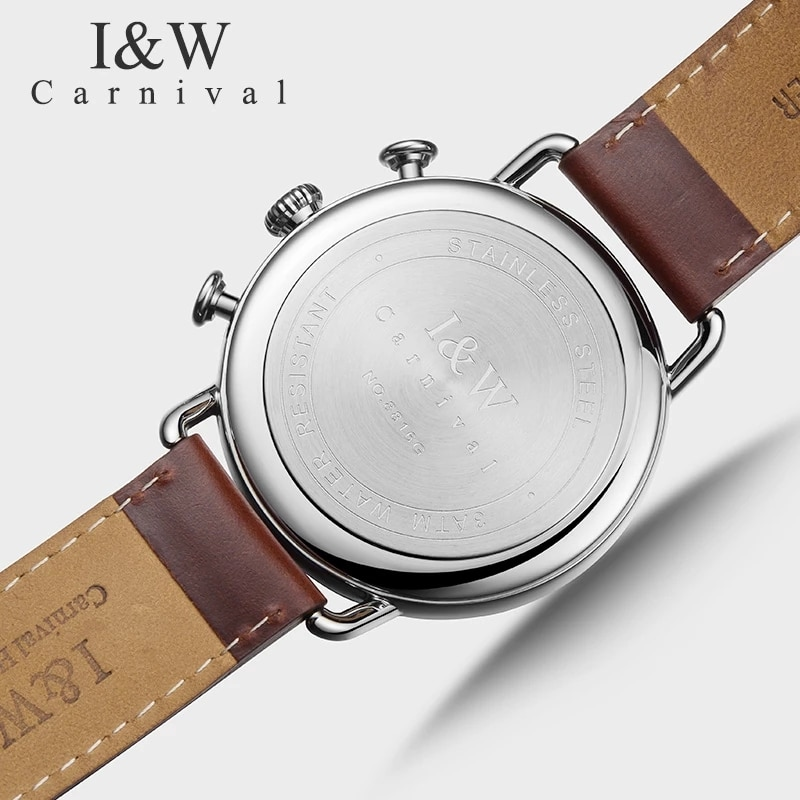 CARNIVAL Luxury Brand Fashion Watch Man Waterproof Unique Runway Design Chronograph Sport Quartz Wristwatches Relogio Masculino enlarge