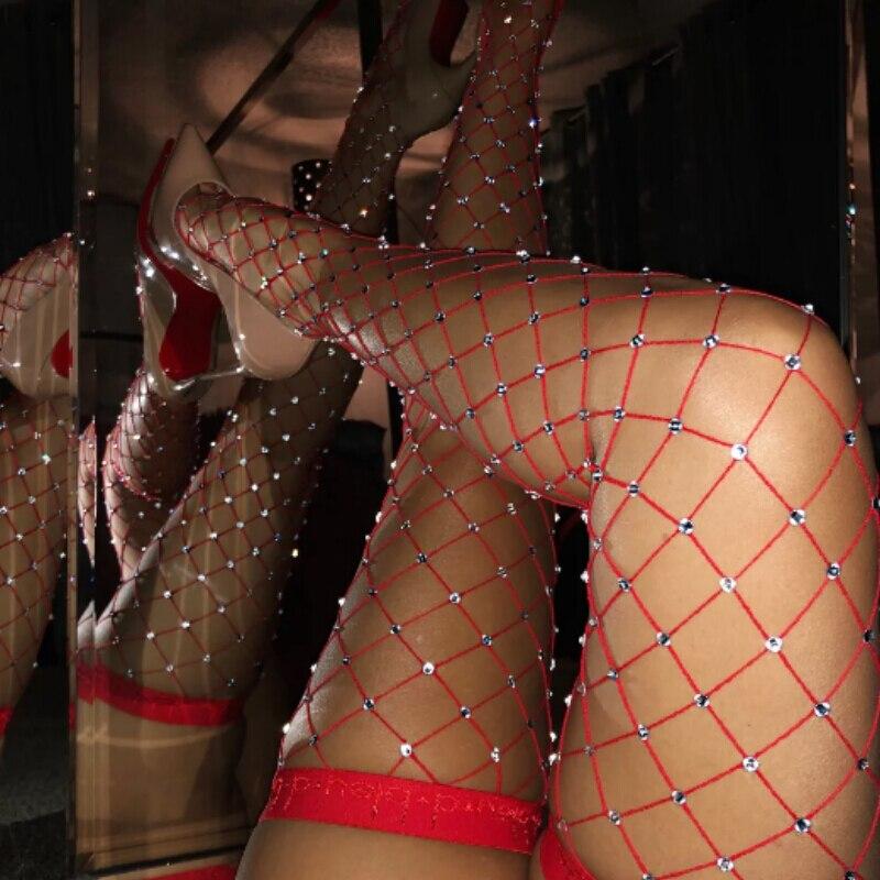Сексуальные ажурные колготки, женские чулки Стразы со стразами, женские нейлоновые чулки, блестящие колготки, сексуальные чулки