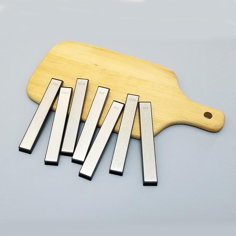 Diamante y whetstone 60-2000 grit cuchillo afilador piedra de afilar piedra de aplanamiento moler sistema fijo cuchillo piedras