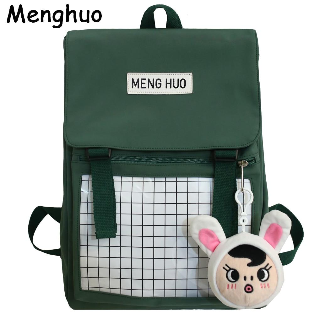 Menghuo sólida mochila para as mulheres 2020 à prova dwaterproof água náilon mouse mochila mochila de viagem feminino mochilas saco escolar para adolescentes