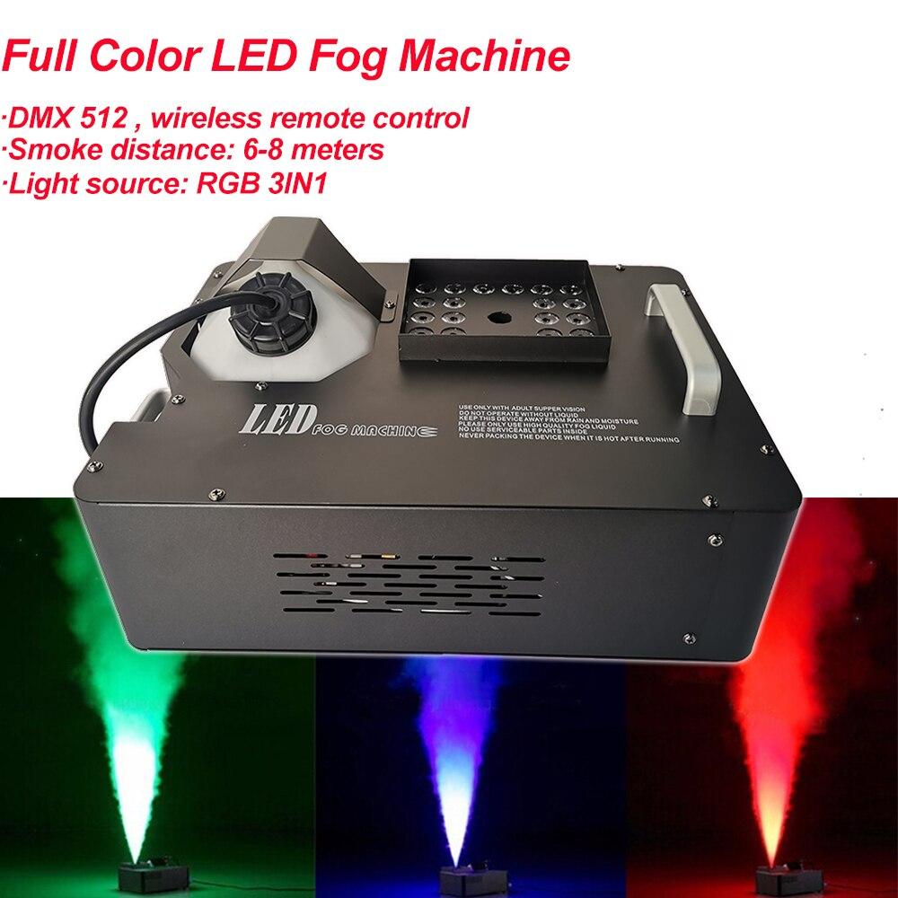 24x3W RGB 3IN1 لون LED آلة الضباب الملونة للحصول على أضواء للمسرح 1500 واط كامل اللون LED آلة الضباب العمودي آلة لصنع الدخان